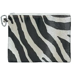 Zebra Print Canvas Cosmetic Bag (xxl) by NSGLOBALDESIGNS2