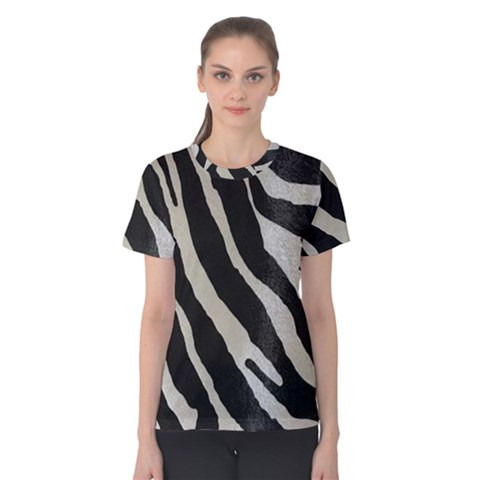 Zebra Print Women s Cotton Tee by NSGLOBALDESIGNS2