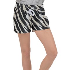 Zebra Print Women s Velour Lounge Shorts by NSGLOBALDESIGNS2