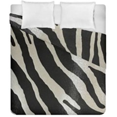 Zebra Print Duvet Cover Double Side (california King Size) by NSGLOBALDESIGNS2