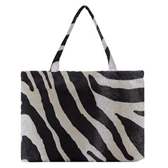Zebra Print Zipper Medium Tote Bag by NSGLOBALDESIGNS2