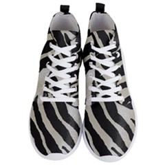 Zebra Print Men s Lightweight High Top Sneakers by NSGLOBALDESIGNS2