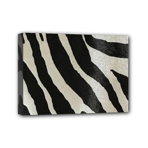 Zebra Print Mini Canvas 7  X 5  (stretched) by NSGLOBALDESIGNS2