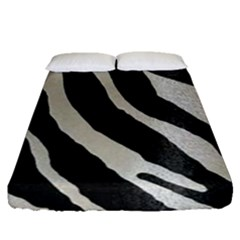 Zebra Print Fitted Sheet (queen Size) by NSGLOBALDESIGNS2