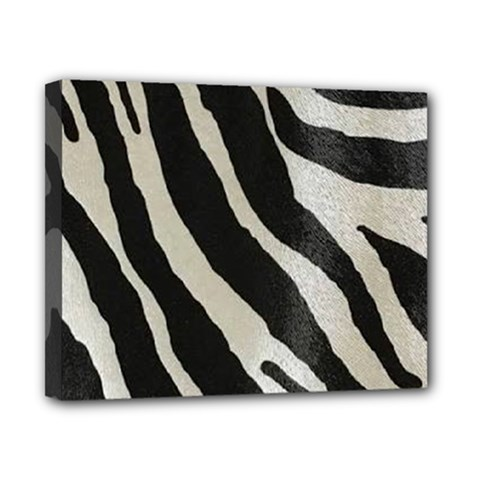 Zebra Print Canvas 10  X 8  (stretched) by NSGLOBALDESIGNS2