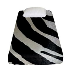 Zebra Print Fitted Sheet (single Size) by NSGLOBALDESIGNS2