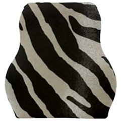 Zebra Print Car Seat Velour Cushion  by NSGLOBALDESIGNS2