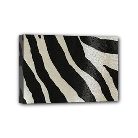 Zebra 2 Print Mini Canvas 6  X 4  (stretched) by NSGLOBALDESIGNS2