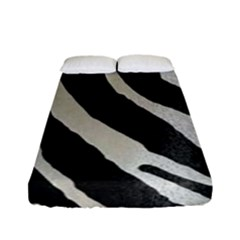 Zebra 2 Print Fitted Sheet (full/ Double Size) by NSGLOBALDESIGNS2