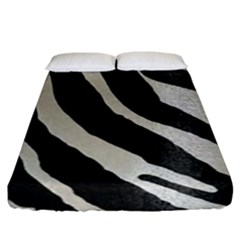 Zebra 2 Print Fitted Sheet (king Size) by NSGLOBALDESIGNS2
