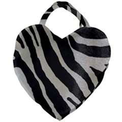Zebra 2 Print Giant Heart Shaped Tote by NSGLOBALDESIGNS2