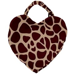 Gulf Lrint Giant Heart Shaped Tote by NSGLOBALDESIGNS2