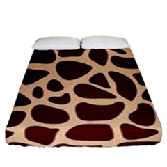 Gulf Lrint Fitted Sheet (king Size) by NSGLOBALDESIGNS2