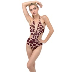 Gulf Lrint Plunging Cut Out Swimsuit by NSGLOBALDESIGNS2