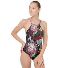 Dedelion High Neck One Piece Swimsuit