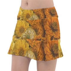 Yellow Zinnias Tennis Skirt