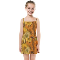 Yellow Zinnias Kids Summer Sun Dress