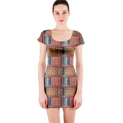 Antique Books Short Sleeve Bodycon Dress by chihuahuadresses