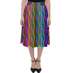 Background Wallpaper Psychedelic Classic Midi Skirt