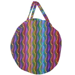 Background Wallpaper Psychedelic Giant Round Zipper Tote
