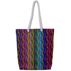 Background Wallpaper Psychedelic Full Print Rope Handle Tote (small)