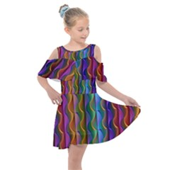 Background Wallpaper Psychedelic Kids  Shoulder Cutout Chiffon Dress