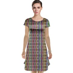 Psychedelic Background Wallpaper Cap Sleeve Nightdress by Samandel