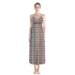 Psychedelic Background Wallpaper Button Up Chiffon Maxi Dress