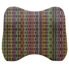 Psychedelic Background Wallpaper Velour Head Support Cushion by Samandel