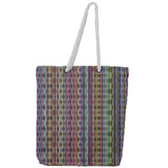 Psychedelic Background Wallpaper Full Print Rope Handle Tote (large) by Samandel