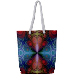 Fractal Background Design Full Print Rope Handle Tote (small)