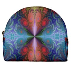 Fractal Background Design Horseshoe Style Canvas Pouch by Samandel