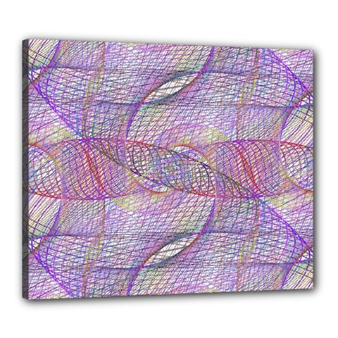 Purple Background Abstract Pattern Canvas 24  X 20  (stretched)