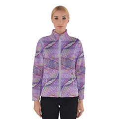 Purple Background Abstract Pattern Winter Jacket