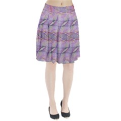 Purple Background Abstract Pattern Pleated Skirt