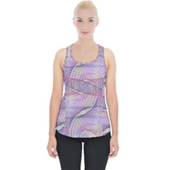 Purple Background Abstract Pattern Piece Up Tank Top