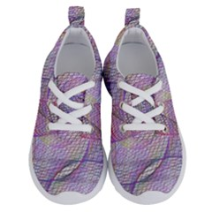 Purple Background Abstract Pattern Running Shoes