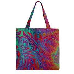 Fractal Bright Fantasy Design Zipper Grocery Tote Bag
