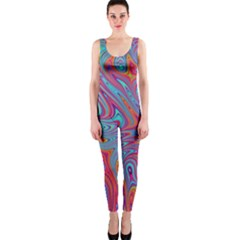 Fractal Bright Fantasy Design One Piece Catsuit by Samandel