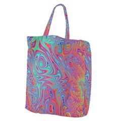 Fractal Bright Fantasy Design Giant Grocery Tote