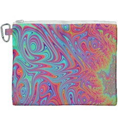 Fractal Bright Fantasy Design Canvas Cosmetic Bag (xxxl)