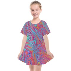 Fractal Bright Fantasy Design Kids  Smock Dress