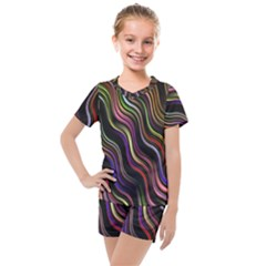 Psychedelic Background Wallpaper Kids  Mesh Tee And Shorts Set