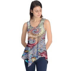 Fractal Artwork Design Pattern Sleeveless Tunic