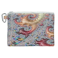 Fractal Artwork Design Pattern Canvas Cosmetic Bag (xl)