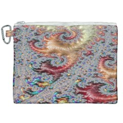 Fractal Artwork Design Pattern Canvas Cosmetic Bag (xxl)