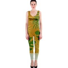 Leaf Leaves Nature Green Autumn One Piece Catsuit