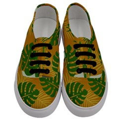 Leaf Leaves Nature Green Autumn Men s Classic Low Top Sneakers