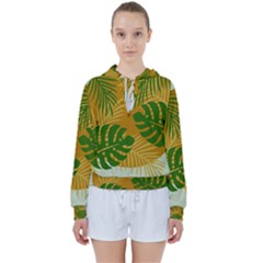 Leaf Leaves Nature Green Autumn Women s Tie Up Sweat