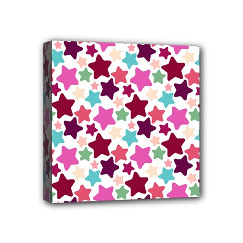 Stars Pattern Mini Canvas 4  X 4  (stretched)